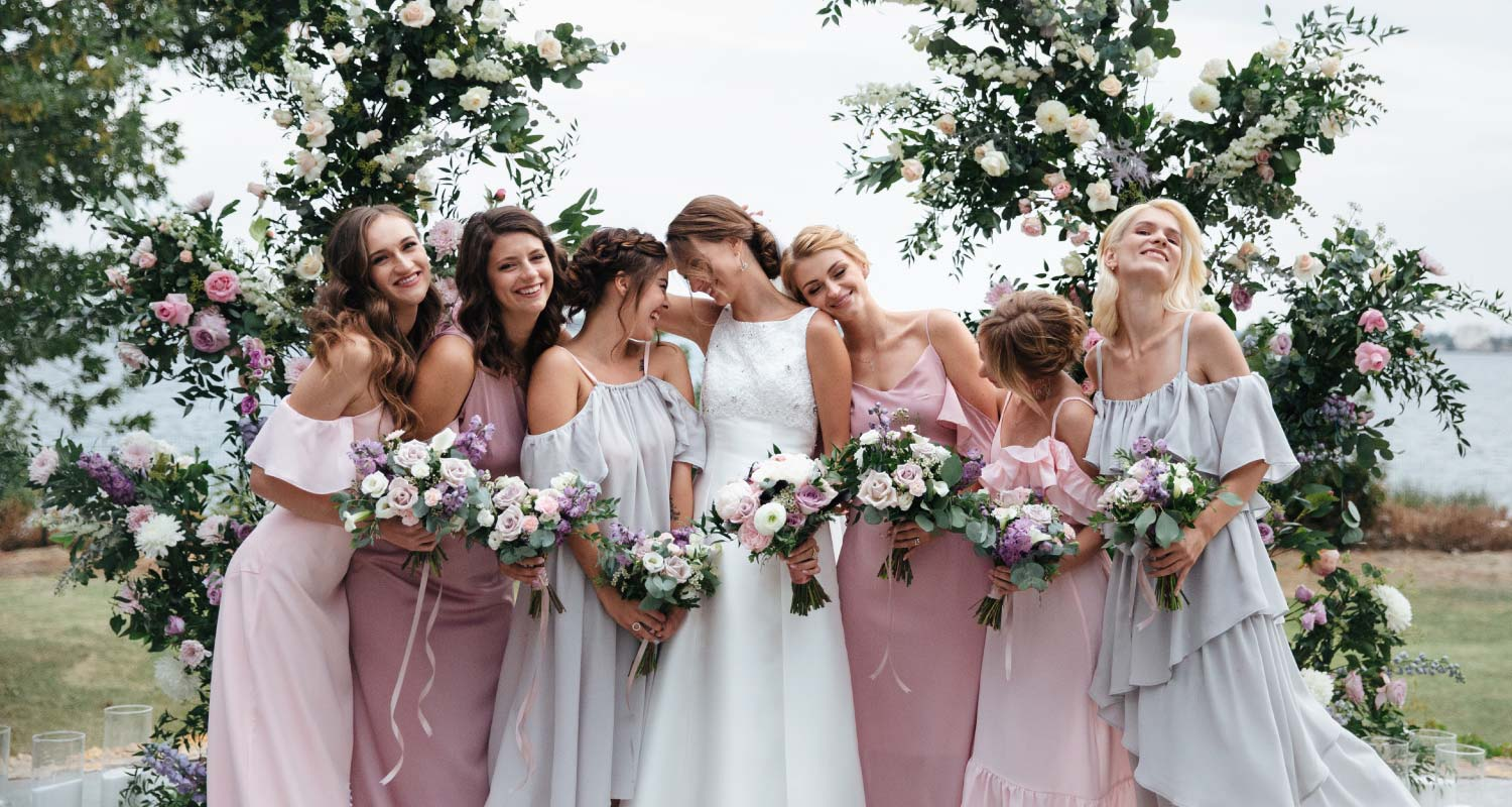 Steam press service for bridesmaids gowns