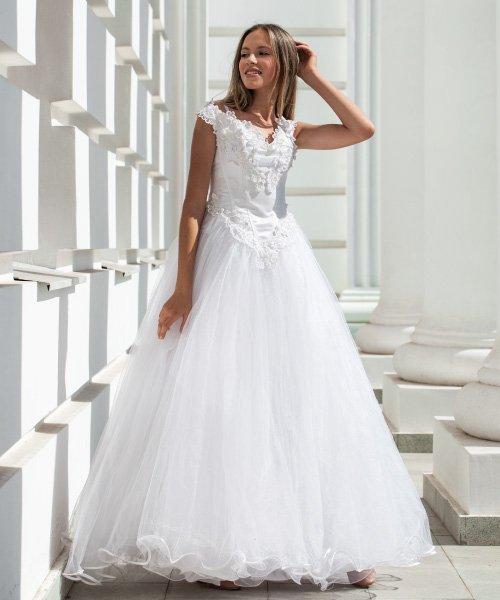 Debutante gown steaming